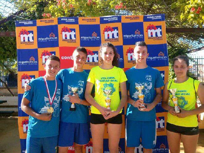 Bronce para los miguelturreños en el Campeonato de Castilla La Mancha de Voley Playa Cadete