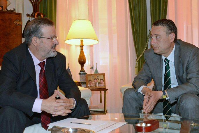 Encuentro Nemesio de Lara, presidente de la Diputación Provincial, y Luis Maldonado, alcalde de Almagro