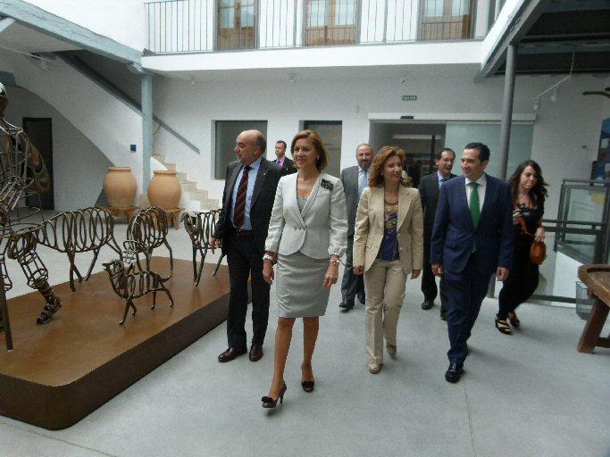 Manzanares Maria Dolores de Cospedal visitó el Museo del Queso Manchego