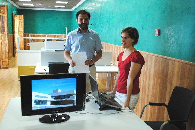 Valdepeñas La Sala Co-Working del Centro de Formación e Innovación recibe a la primera emprendedora