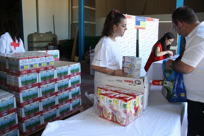 Cruz Roja Española de Valdepeñas reparte 10 toneladas de alimentos a 334 familias necesitadas entre las que se encuentran 33 bebés