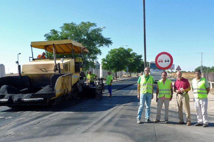 Almagro Las obras de la carretera de Carrión continúan a buen ritmo