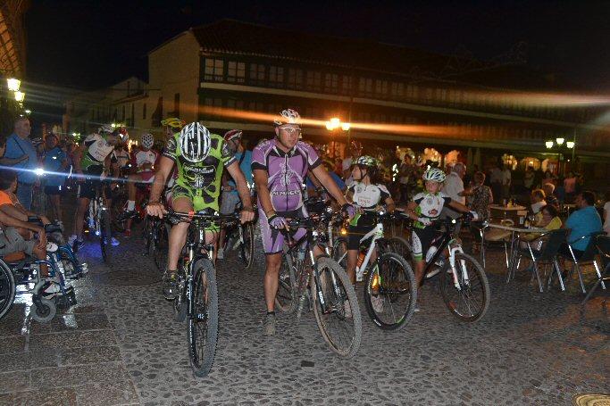 Almagro Más de ciento veinte participantes en la II Quedada Nocturna en bicicleta de montaña