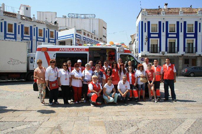 Dispositivo de Cruz Roja Española para las fiestas de Valdepeñas