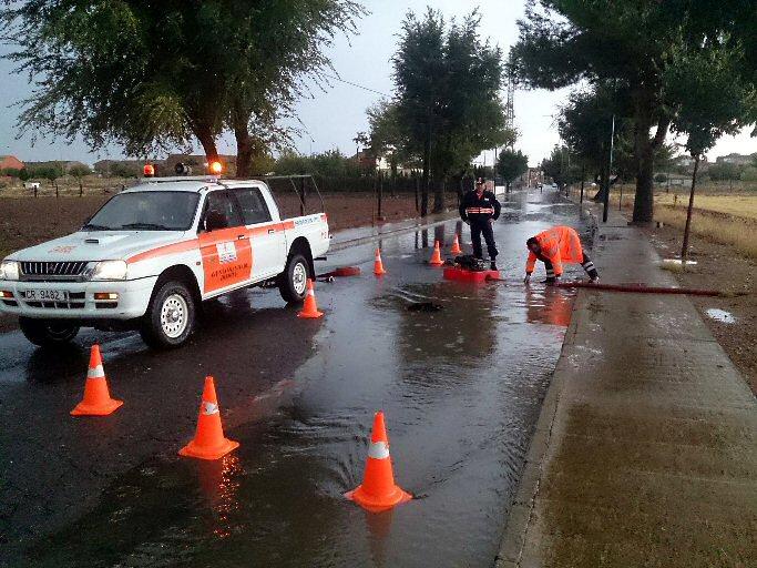 Daimiel El verano se despide con una tormenta que deja 20 litros por metro cuadrado en una hora