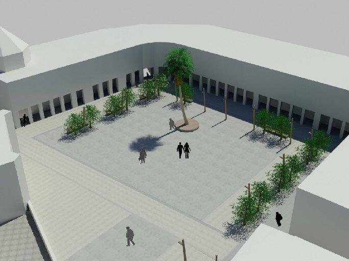 Manzanares La reforma de la plaza eliminará el suelo técnico y tendrá superficie de granito y hormigón