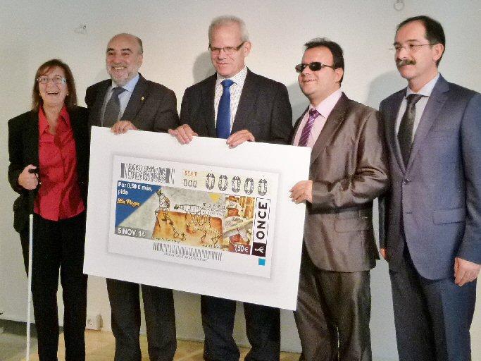 Manzanares Cinco millones y medio de cupones de la ONCE promocionan el Museo del Queso Manchego