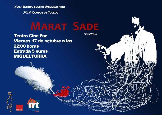 Miguelturra MaretSade se representará el viernes en el Teatro Cine Paz