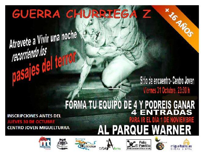 Miguelturra vivirá su particular Guerra Churriega Z el viernes 31 de octubre