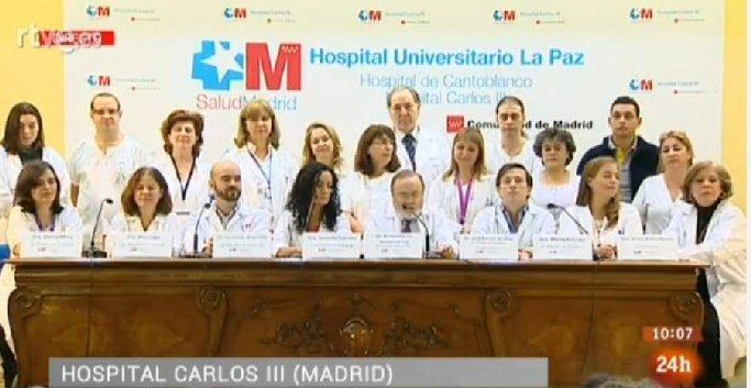 Los médicos del Carlos III dan el alta hospitalaria a Teresa Romero