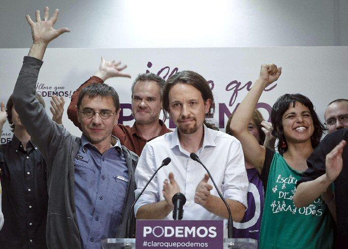 Podemos supera en intención de voto al PP y PSOE impulsados por el descontento ciudadano