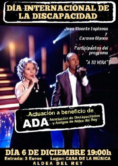 Aldea del Rey Actuación a beneficio de ADA, Asociación de Discapacitados y Amigos de Aldea del Rey