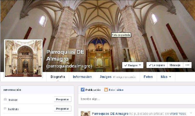 Las parroquias de Almagro ya están en las redes sociales
