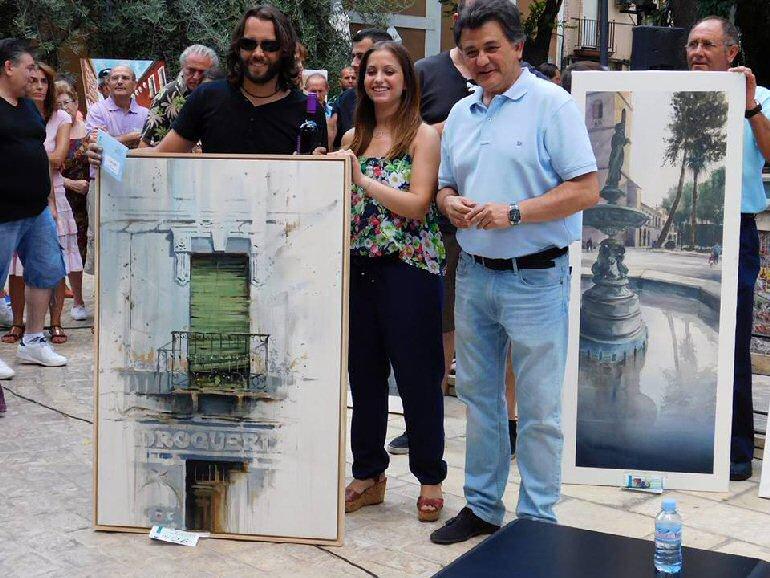 Daimiel El bolañego Javier Martín Aranda se lleva el primer premio del Certamen de Pintura Rápida