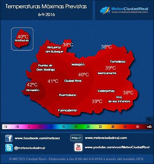 Provincia Hoy podríamos alcanzar los 42 grados de calor