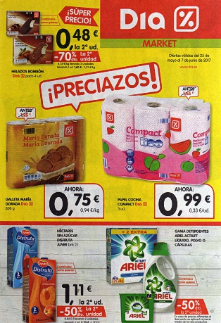 Ofertas DIA Del 25 May al 7 Jun 2017