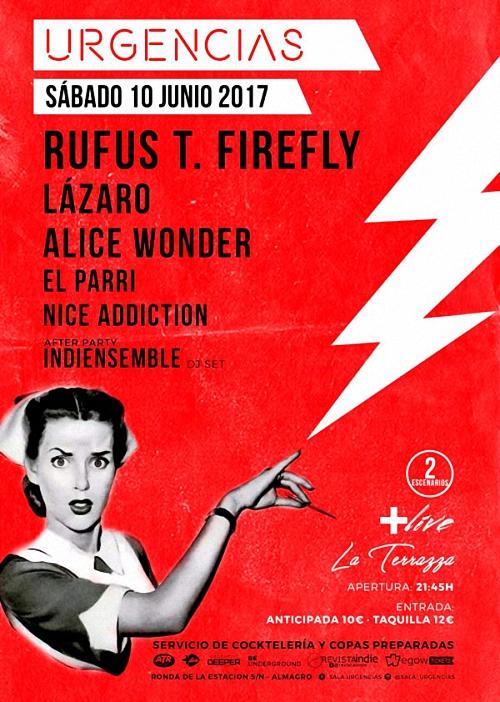 Rufus T. Firefly Sala URGENCIAS Almagro, Sábado 10 de Junio