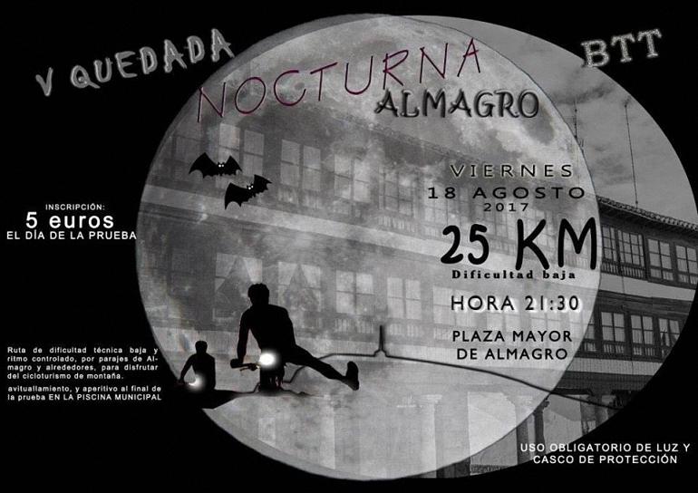 Almagro La Peña Ciclista Lolo Sanroma organiza la V Quedada Nocturna de BBT