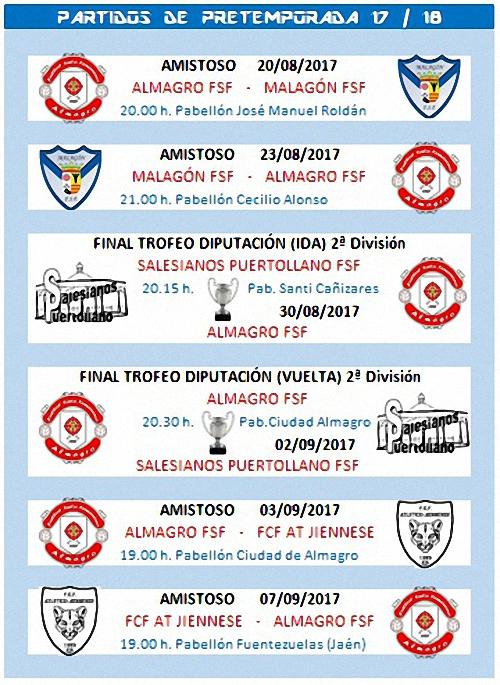 El Almagro FSF comienza la pretemporada el 16 de agosto