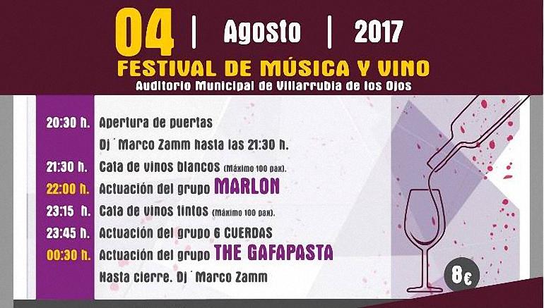 Villarrubia de los Ojos Todo preparado para el Festival de Música y Vino Ojos del Guadiana