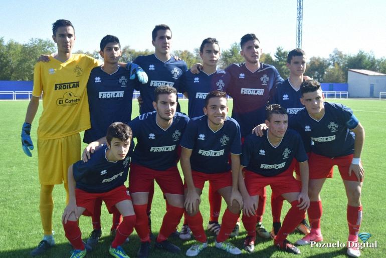El Almagro CF B Juvenil empata frente al Pozuelo en un partido muy disputado