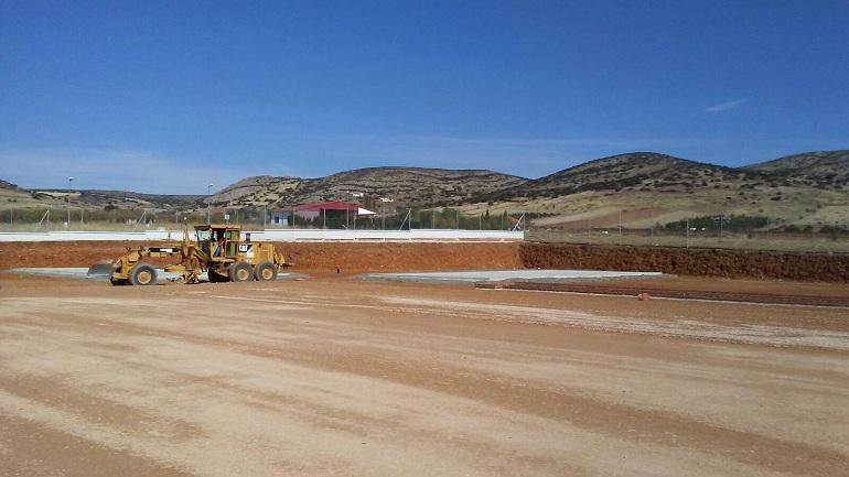 Moral de Calatrava La Ciudad Deportiva avanza a buen ritmo y ya van ejecutadas la mitad de las obras
