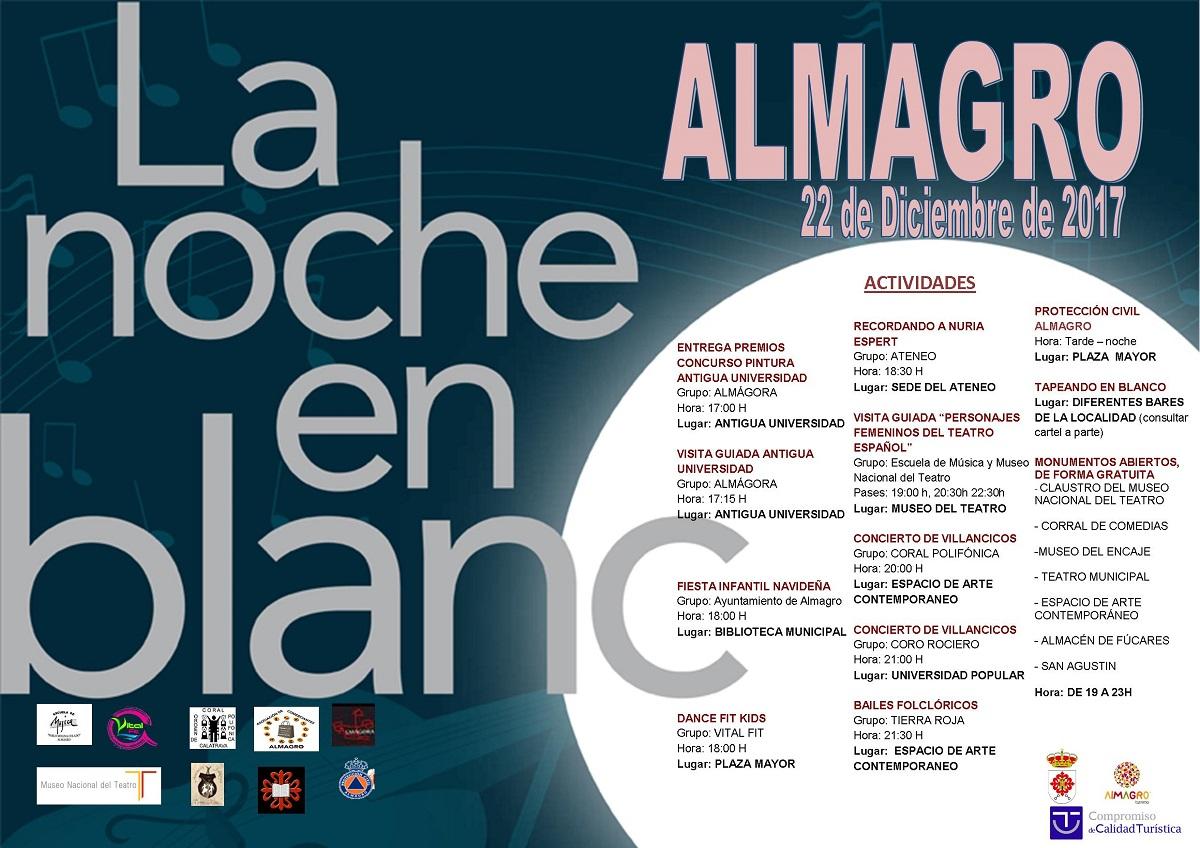 Almagro celebra este viernes la VI Edición de la Noche en Blanco