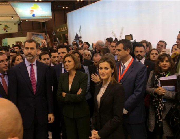 Los Reyes visitan el stand de Castilla La Mancha en la inauguración de FITUR 2015