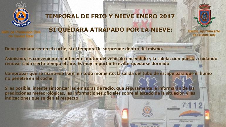Temporal Frio Y Nieve Protección Civil de Ciudad Real 02