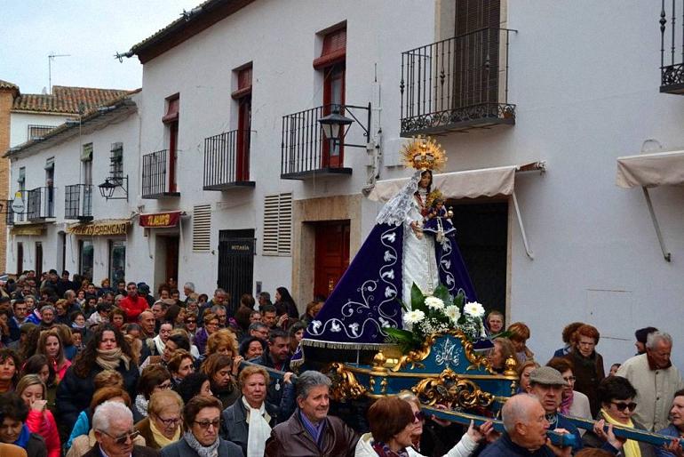Almagro La Virgen de las Nieves regresa a su Santuario para la época estival