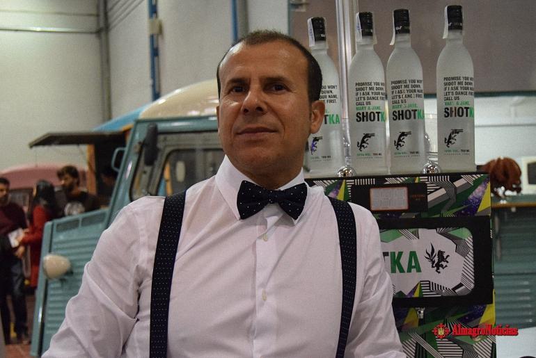 Ezequiel Sánchez del restaurante El Patio de Ezequiel de Almagro en el I Festival Gastronomico y Cultural Jamón Spain de Valdepeñas