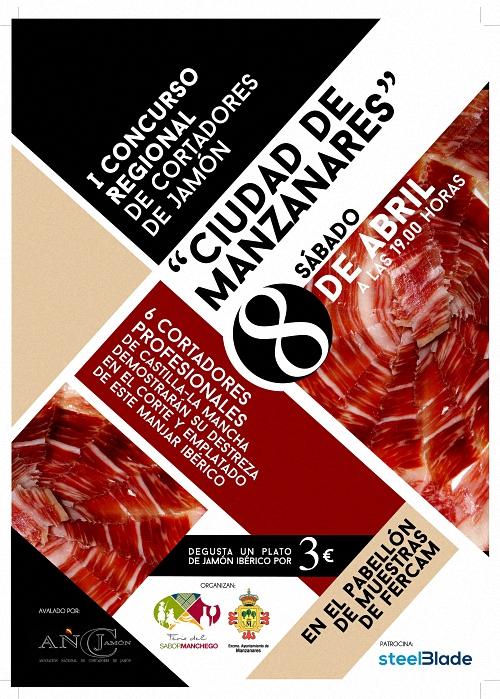 Manzanares celebrará el I Concurso Regional de Cortadores de Jamón en a II Feria del Sabor Manchego, Fersama