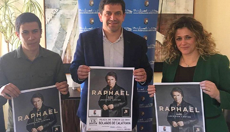 Bolaños Raphael actuará en las Fiestas del Cristo el próximo 15 de septiembre en la Plaza de Toros