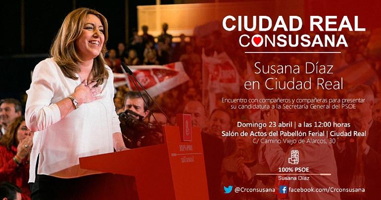 Ciudad Real Susana Díaz estará este domingo con los militantes ciudarealeños para presentarles su candidatura