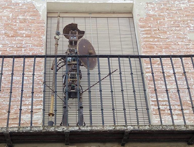 Quijote realizado con materiales reciclados