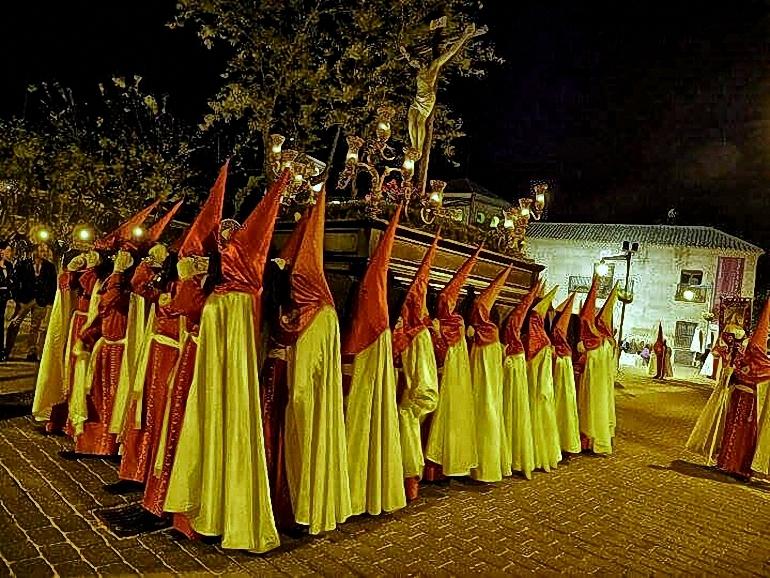 Torralba de Calatava Emotiva procesión del Santo Entierro de la Ruta de la Pasión Calatrava