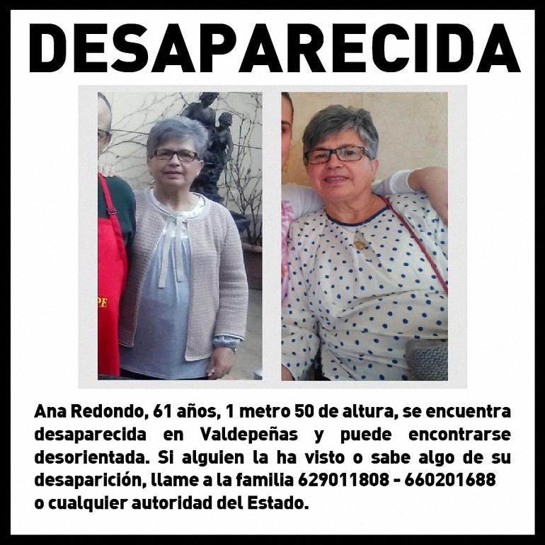Valdepeñas Sigue sin aparecer la mujer de 61 años que desapareció el pasado 6 de marzo