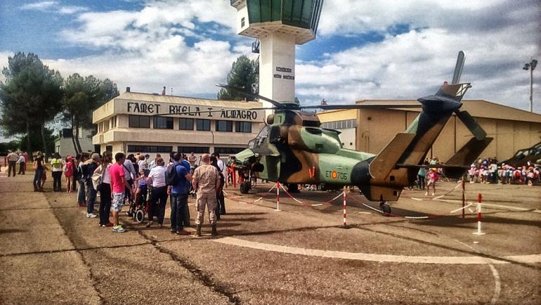 Almagro Día de puertas abiertas en la Base de Helicópteros Coronel Sánchez Bilbao
