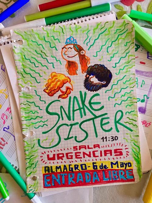 Almagro Snake Sister se suben hoy al mítico escenario de la Sala Multiusos URGENCIAS