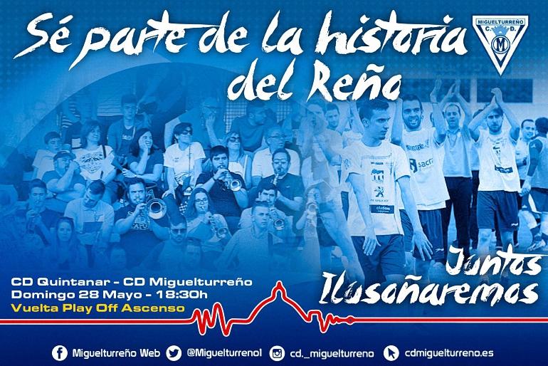 El Miguelturreño jugará con doce la vuelta del play-off de ascenso a Tercera División