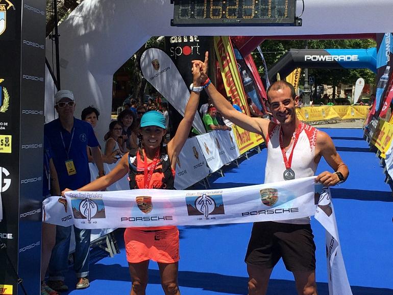 Victoria de Gemma Arenas y Agustín Lujan en el Gran Trail de Peñalara