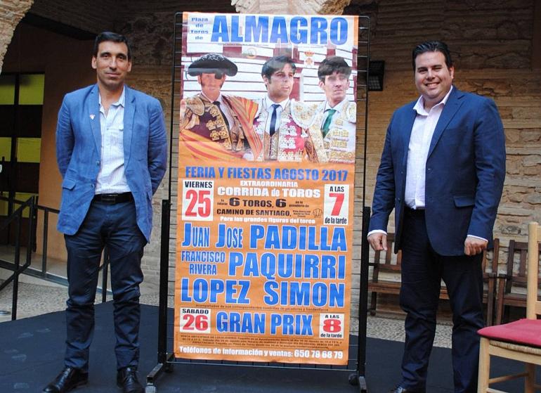 Almagro La corrida de feria con los diestros Padilla, Paquirri y López Simón será televisada por la televisión autonómica