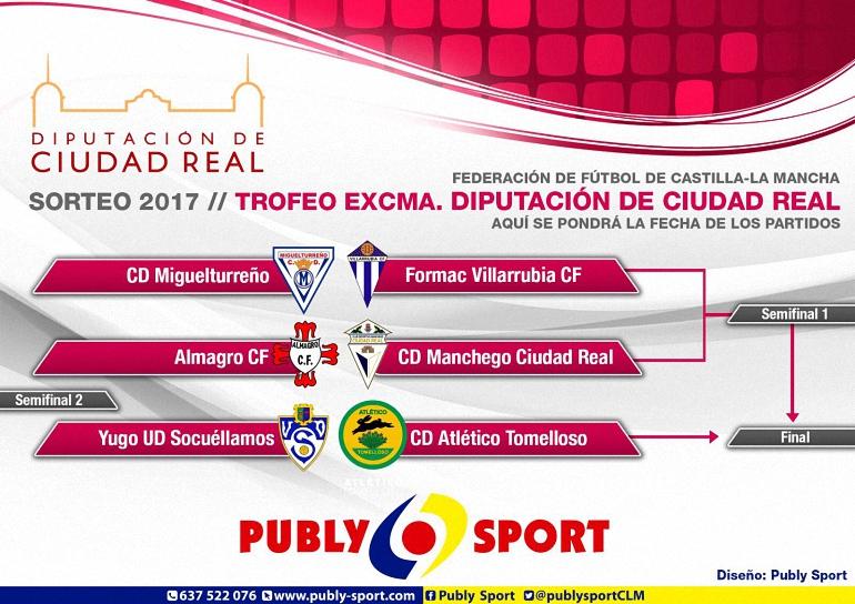 El Almagro CF se medirá al Manchego en los cuartos de final del Trofeo Diputación
