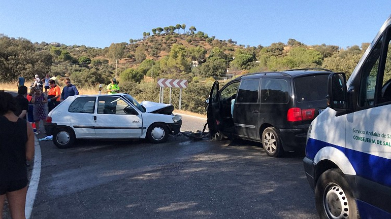 Fallecido un vecino de Almagro en una colisión frontal en la carretera que sube al Santuario de la Virgen de la Cabeza en Andújar