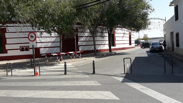Medidas antiatropello en el recinto ferial de Almagro