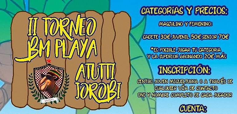 Miguelturra celebrará el II Torneo de Balonmano Playa Attuti Jorobi del 9 al 14 de agosto