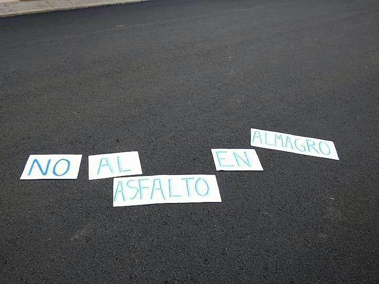 No al asfalto en Almagro