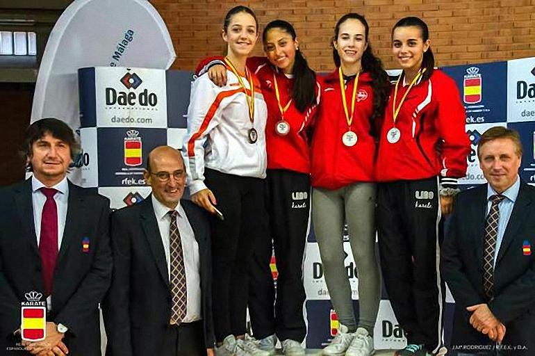 Almagro Un oro y dos cuartos puestos para la Escuela de Kárate en Málaga