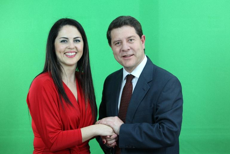Irene Barahona con Emiliago García Page