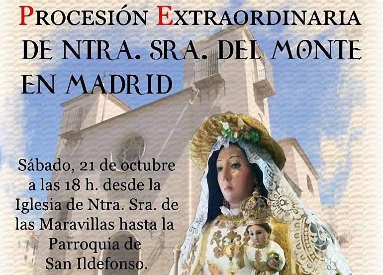 La imágen filial de la Virgen del Monte en Madrid cambia de sede este sábado